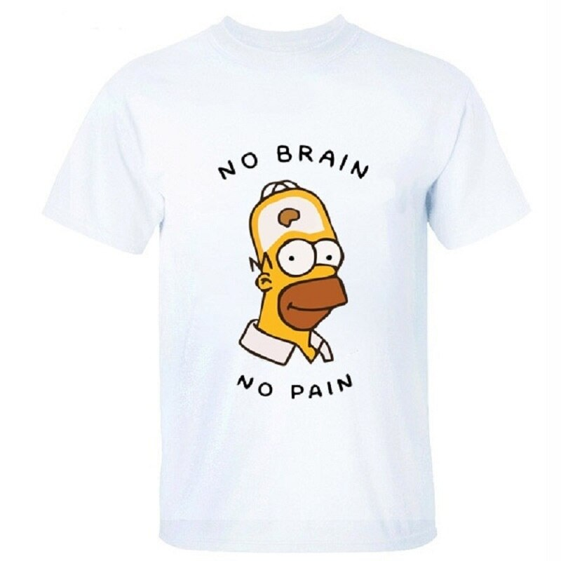 "Tričko Simpsons ""No Brain No Pain"""