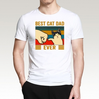 "Tričko Kočky ""Best Cat Dad Ever"""